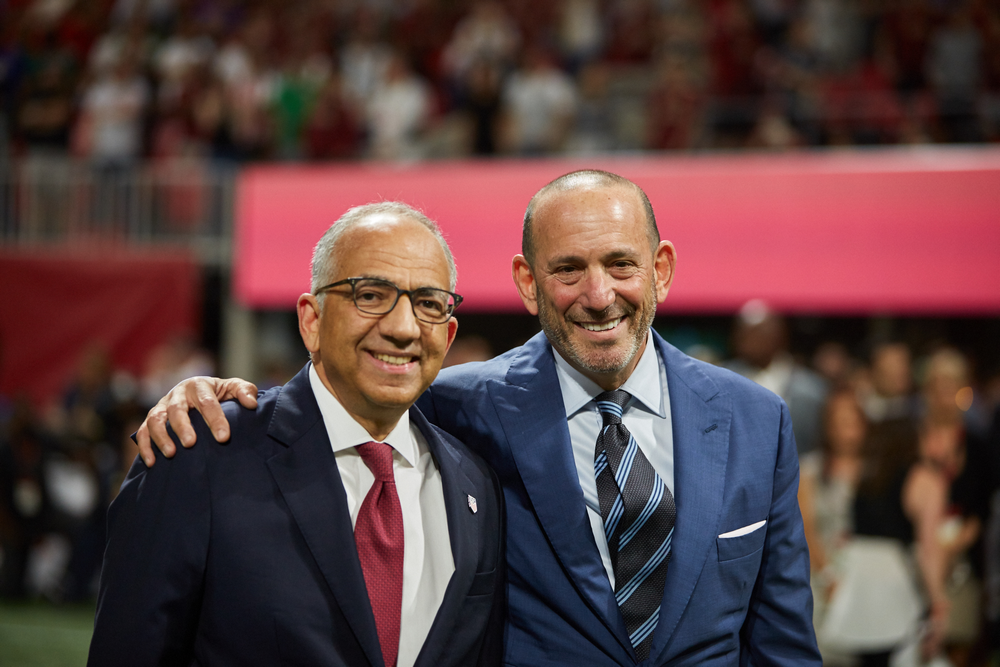Don Garber SUM MLS and Carlos Cordeiro President of USSF Board of Directors